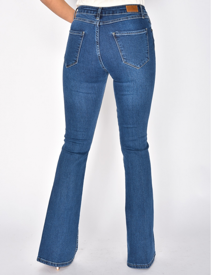 Faded Blue Bell Bottom Jeans