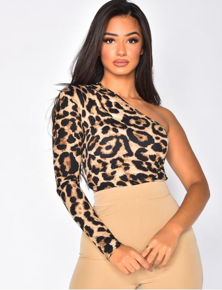 Body asymétrique léopard