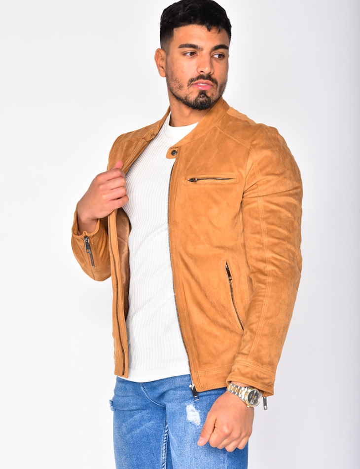 Suedette Jacket with Zip