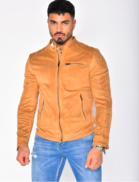 Suedette Jacket with Zip