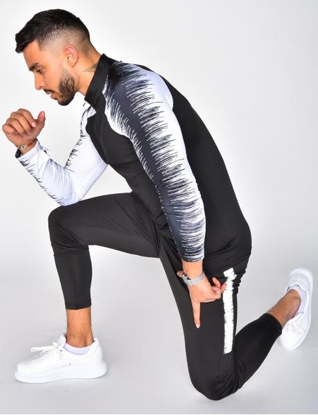 Kombination aus Jogginghose und Sweatshirt mit Rei?verschluss