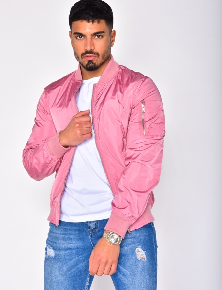 Men's Pink Bomber Jacket