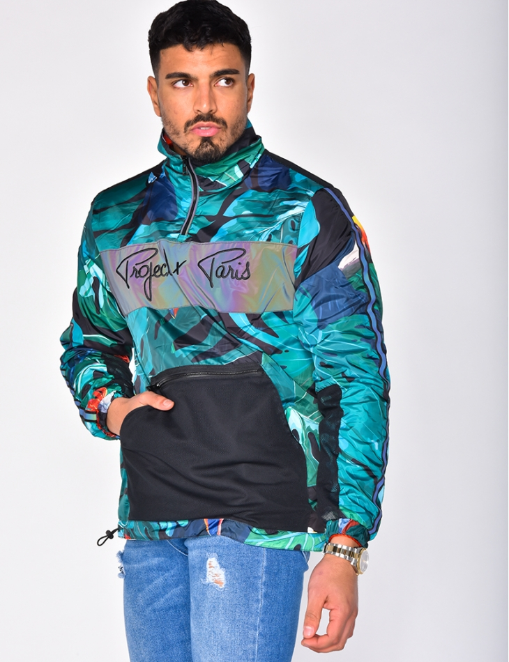 Windbreaker with Pattern
