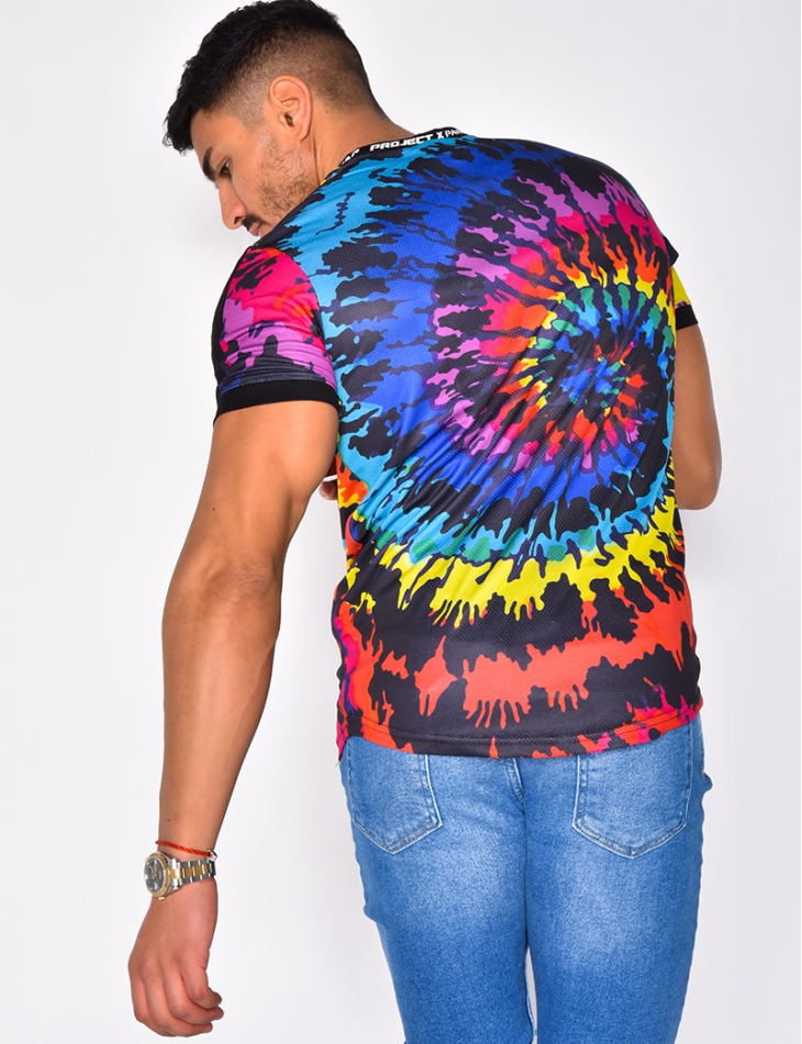 T-shirt with Multi-Coloured Flecks