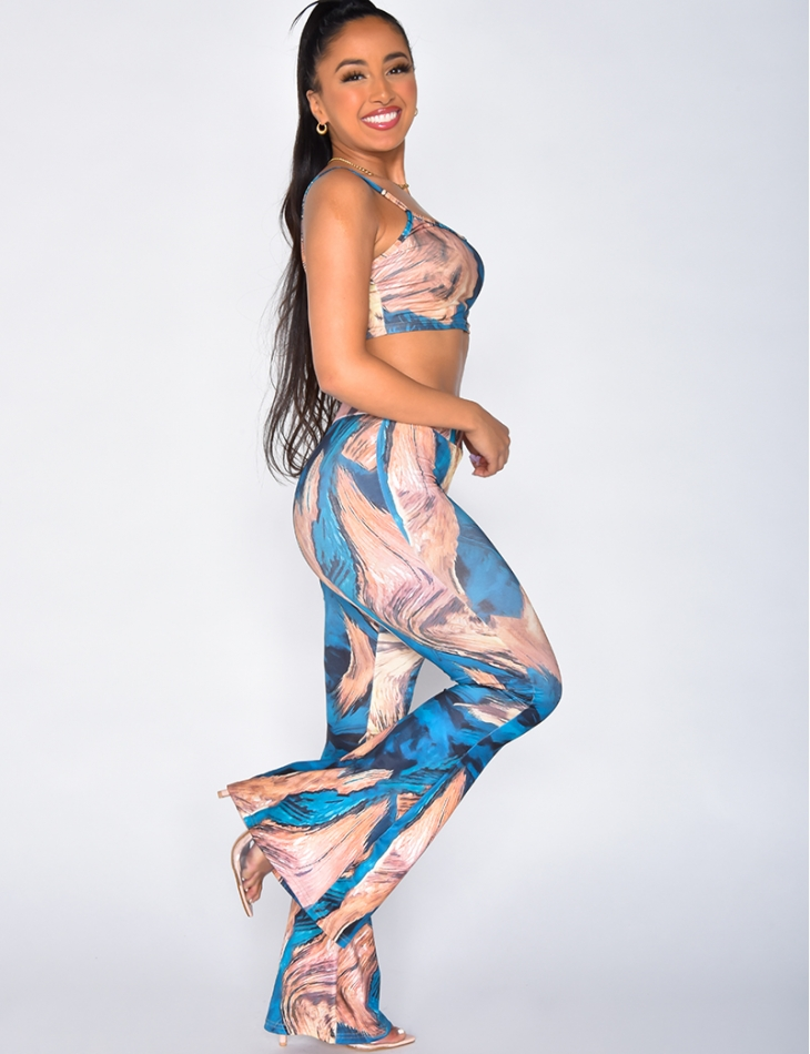 Printed Bra and Trousers Co-ord