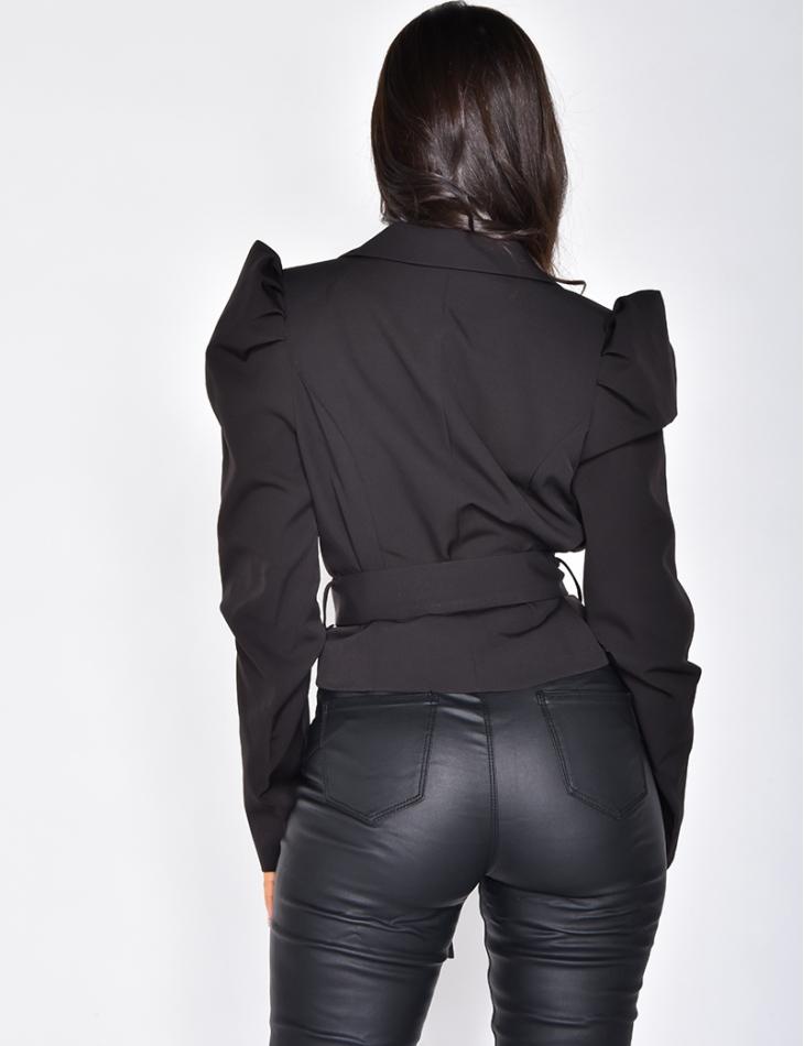 Short Blazer with Belt