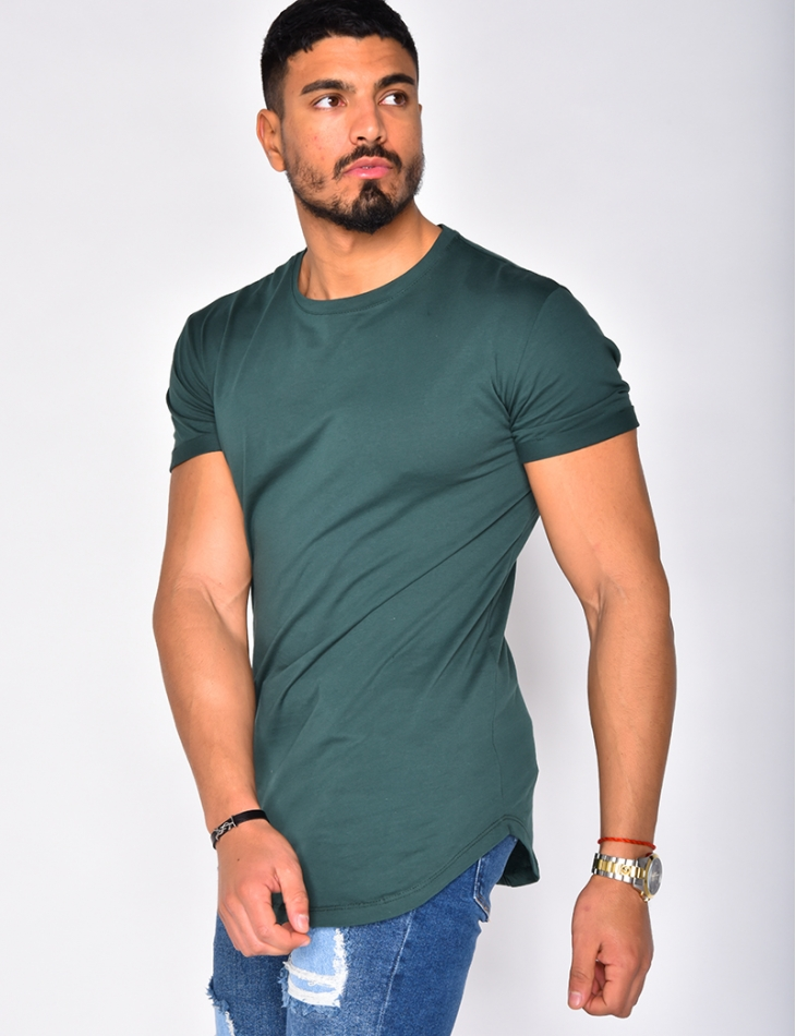 Basic T-shirt with Round Neckline