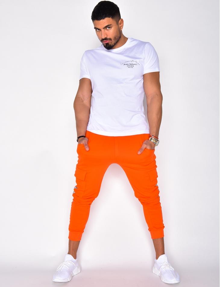 Pantalon de jogging à poches et bandes réfléchissantes