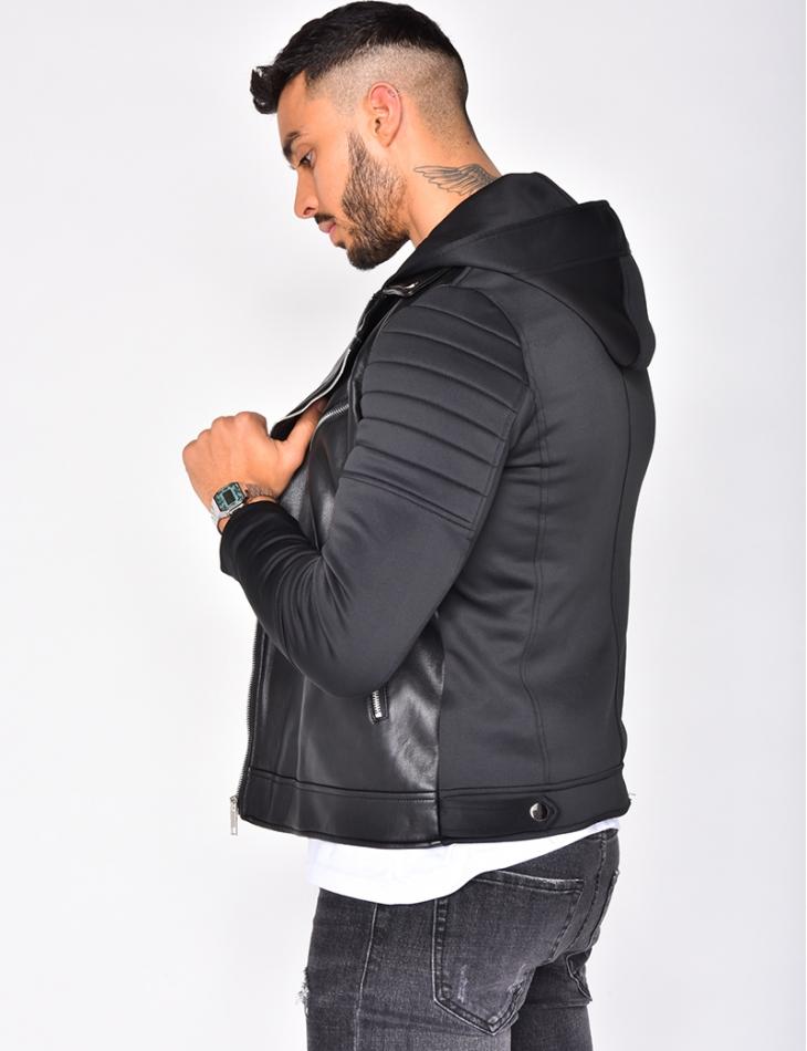 PU Leather Jacket with Zips