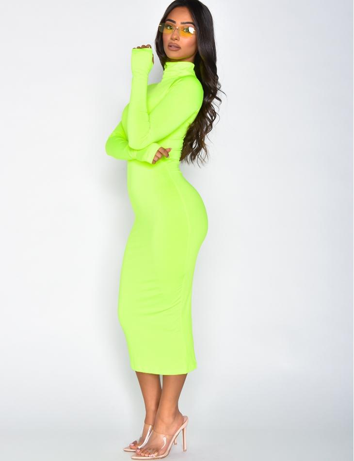 Long Fluorescent Bodycon Dress