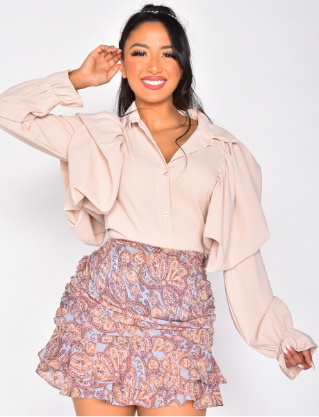 Long Sleeved Loose Fit Shirt