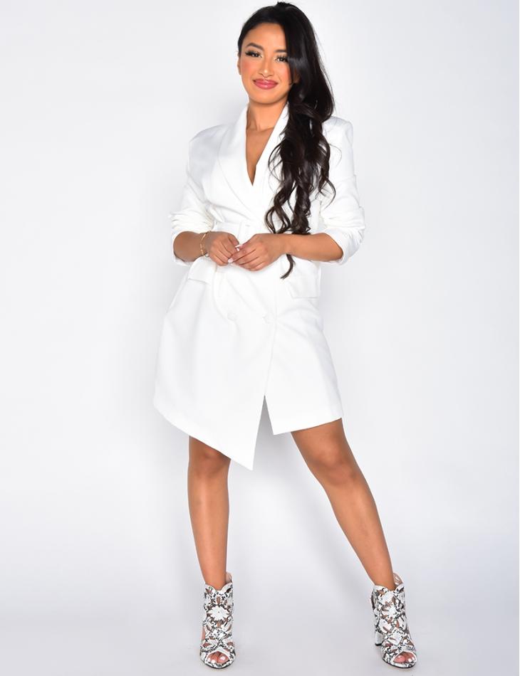 Blazer Dress with Shoulder Pads