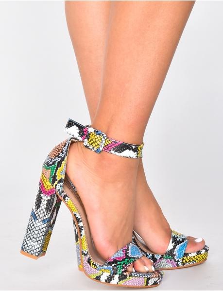 Sandales à motifs serpent