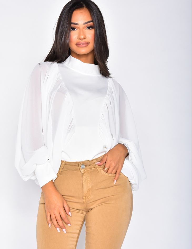 Blouse manches larges