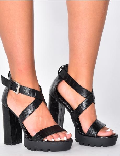 Sandales à talons plateforme