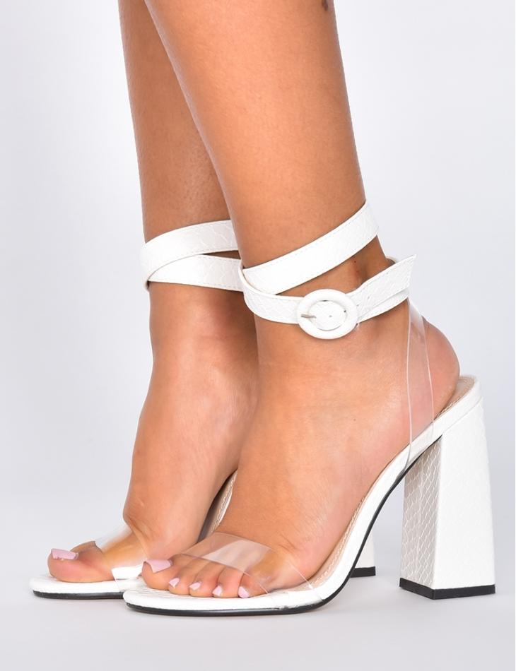 Snakeskin Style Sandals
