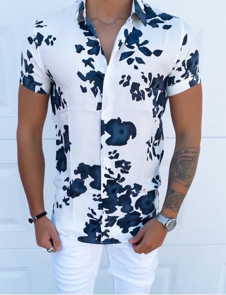 Chemise manches courtes à taches