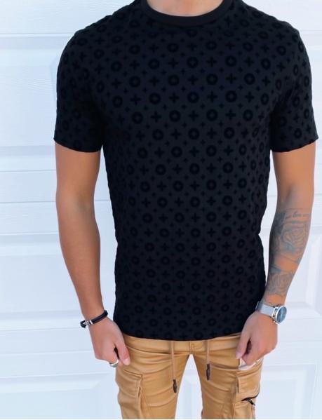 T-shirt à motif en relief