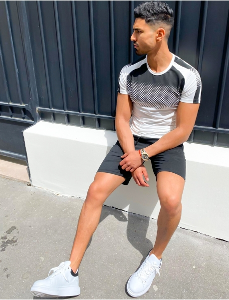 Ensemble t-shirt et short à carreaux