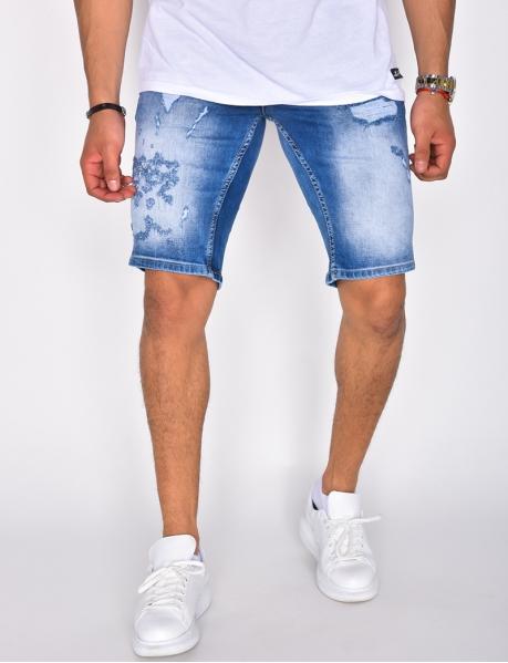 Herren-Bermudashorts aus Jeans