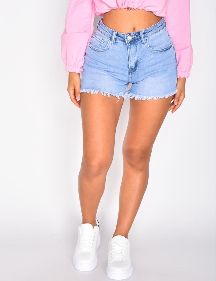 Short en jeans cropped