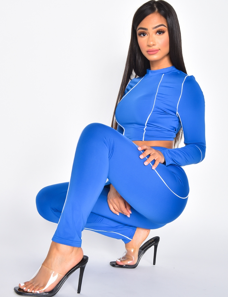 Crop Top & Leggings Co-ord with Bands