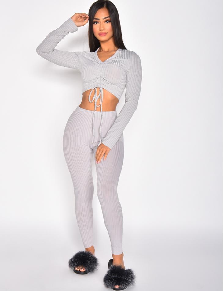 Ensemble pantalon et crop-top
