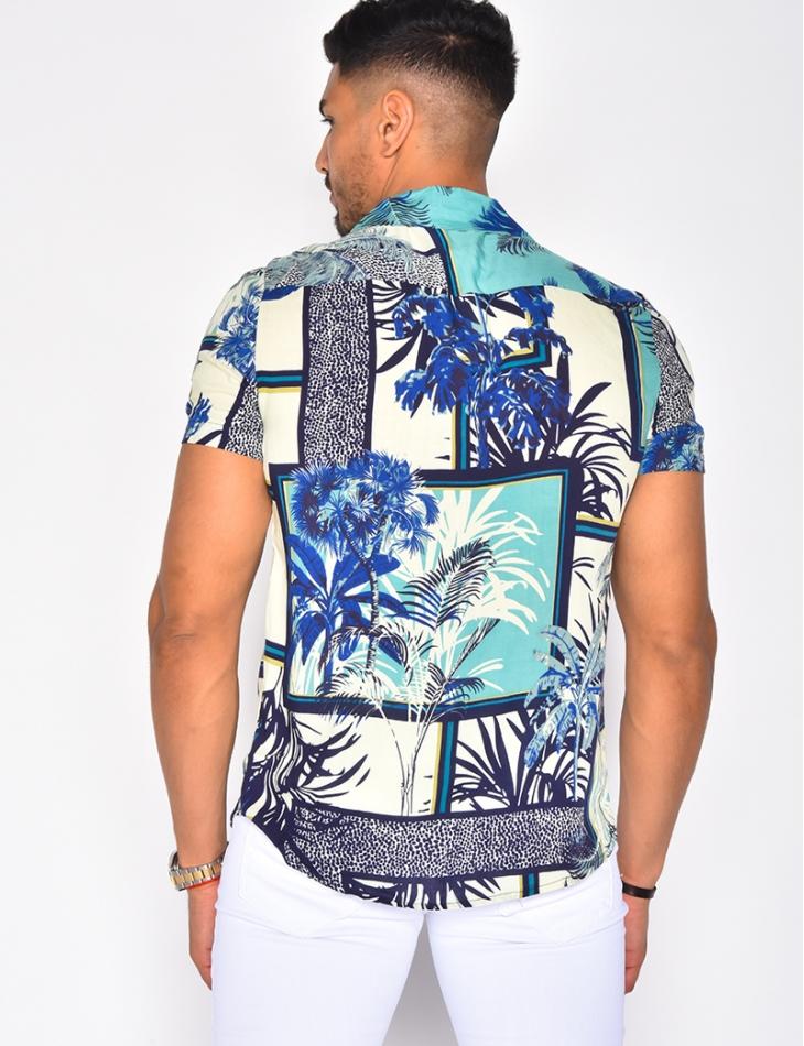 Chemise fluide à motifs