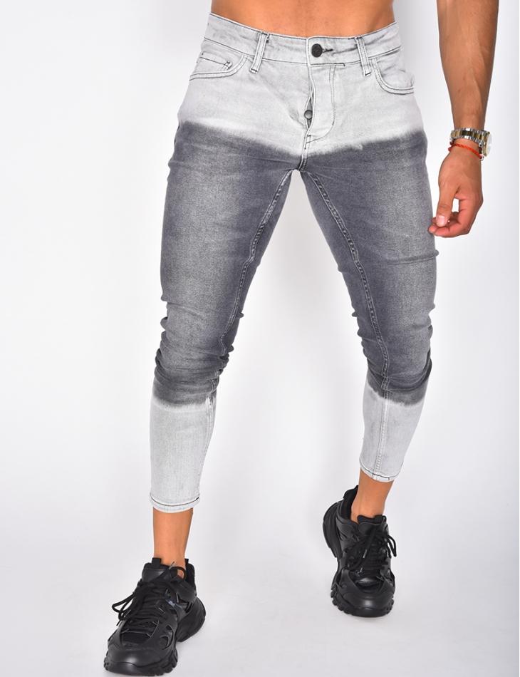 Jeans gris dégradé