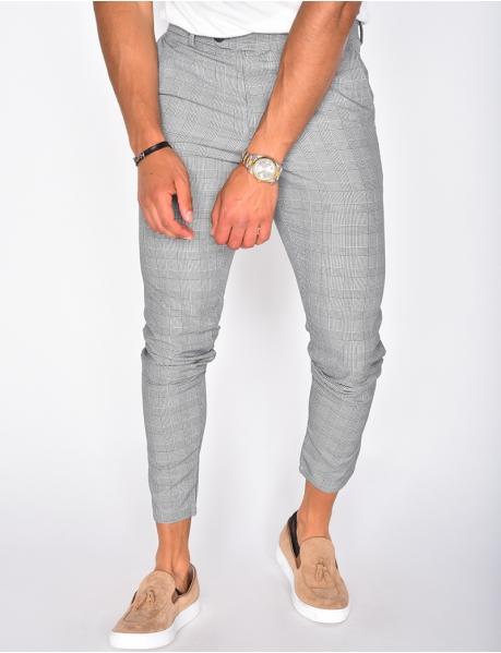 Pantalon homme à carreaux