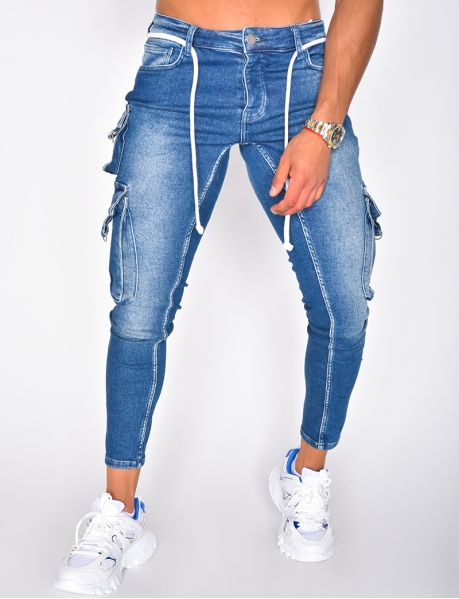 Jeans homme cargo