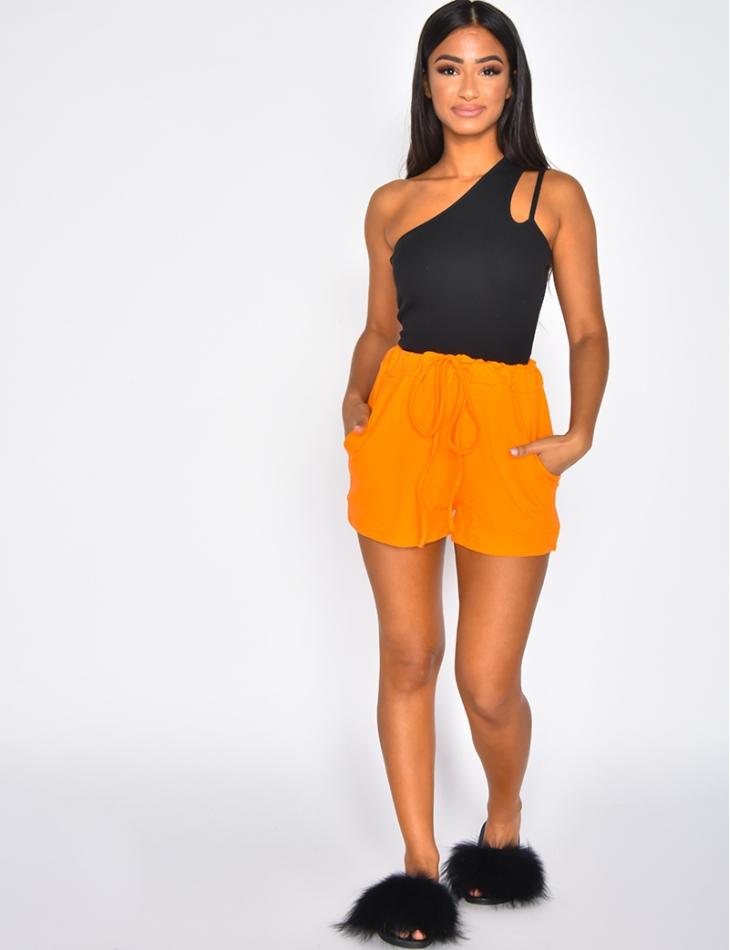 High Waisted Tie Shorts
