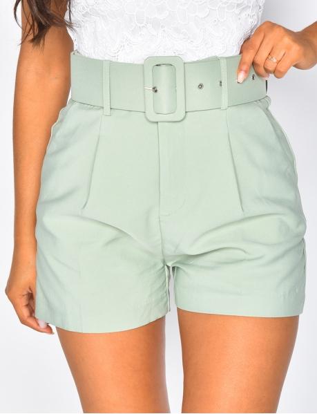 Shorts Hig Waist mit Gürtel