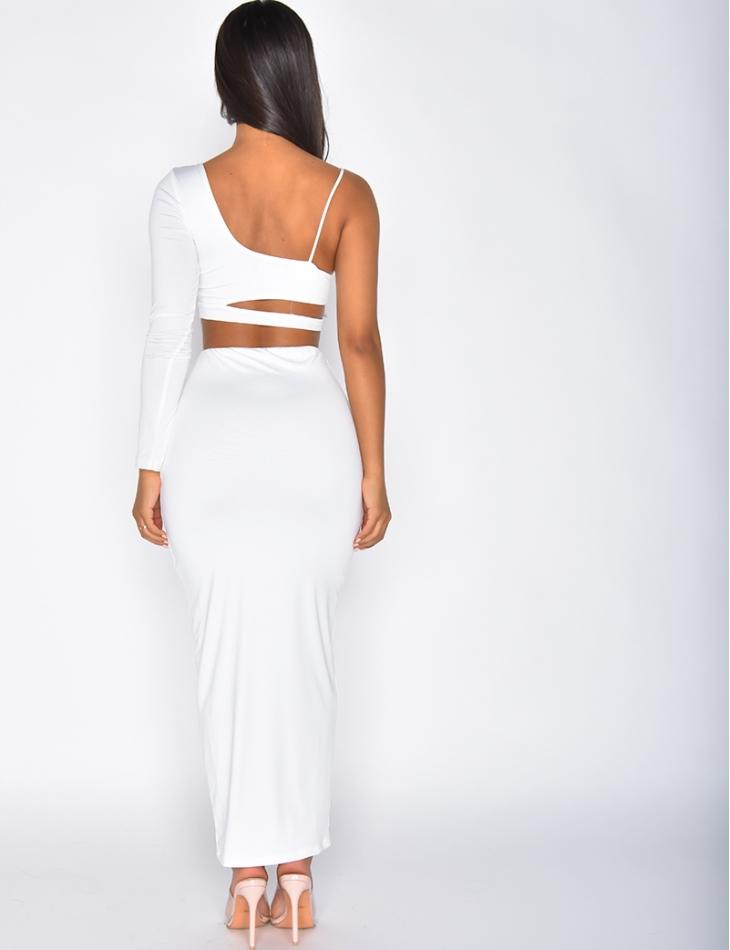 Ensemble crop-top et jupe longue