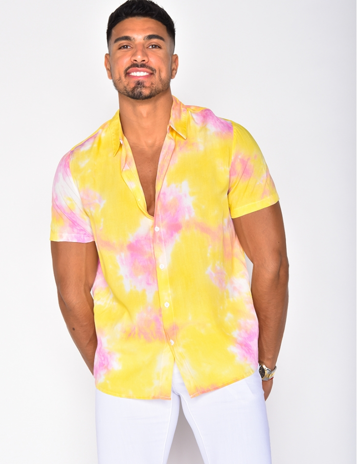 Chemise fluide tie and dye