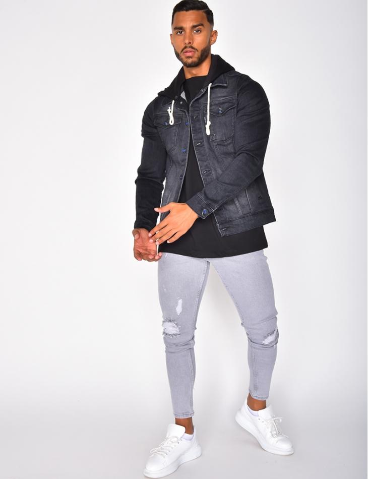 Veste en jeans avec capuche