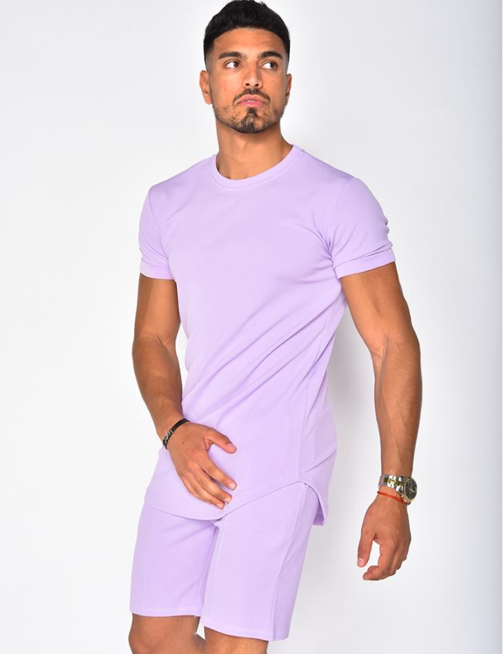T-shirt homme texturé