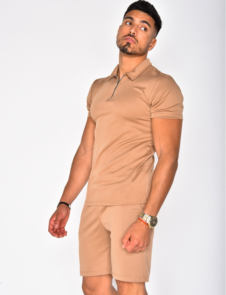 Polo Shirt with Zips