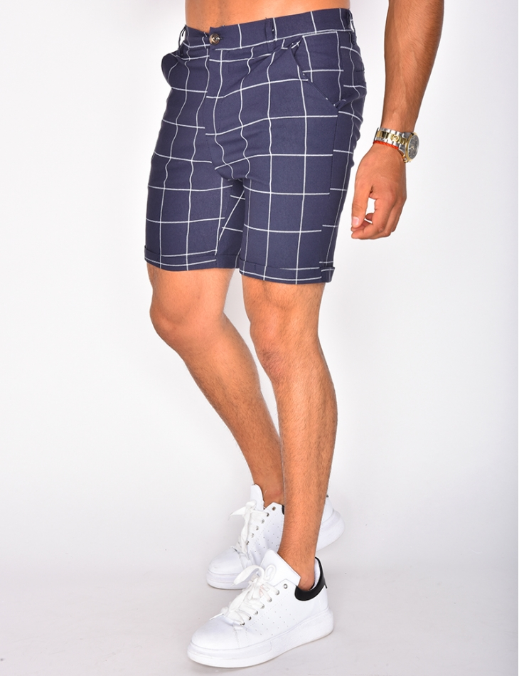 Checked Chino Shorts