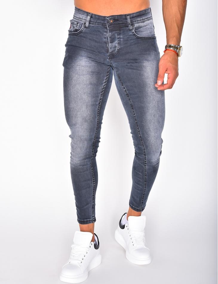 Jeans gris délavé
