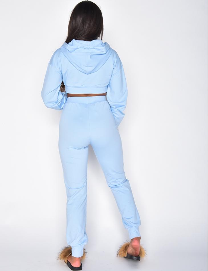 Ensemble Jeans Industry jogging et crop-top à capuche