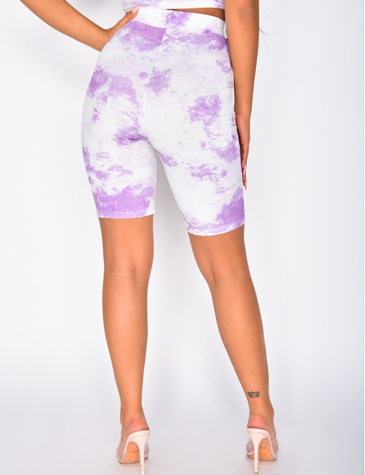Short cycliste tie and dye