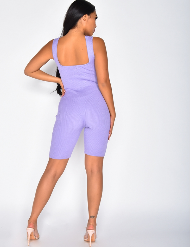 Ribbed Cycling Playsuit