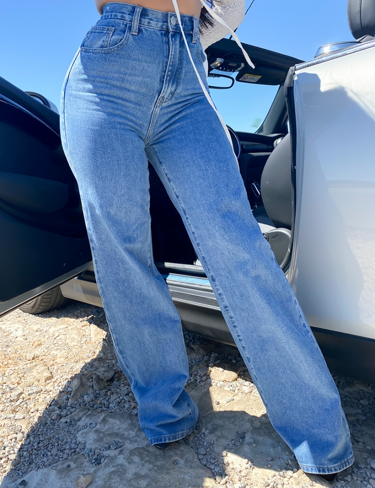 Jeans taille haute extralong