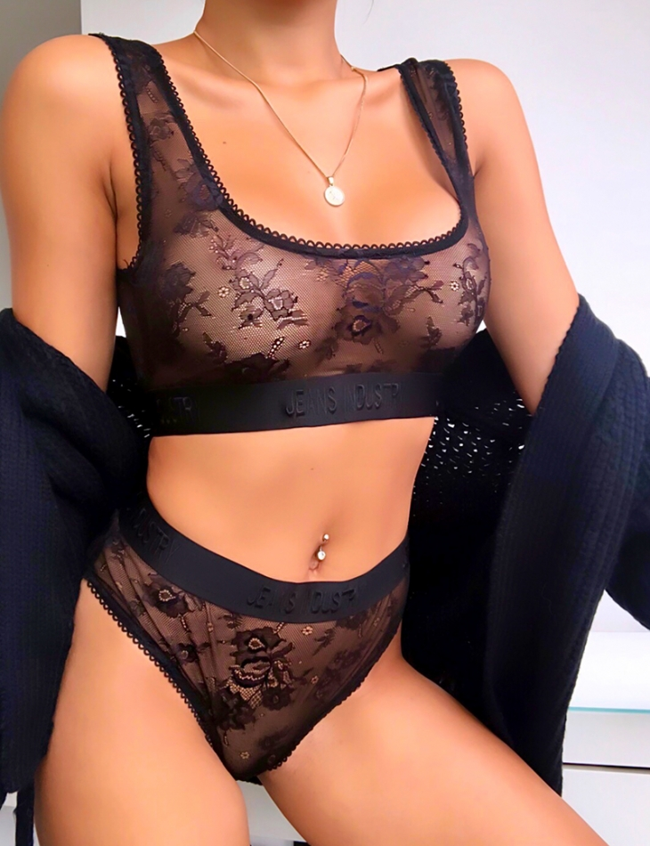 """""""Jeans Industry"""" Bra and Knickers Set"""