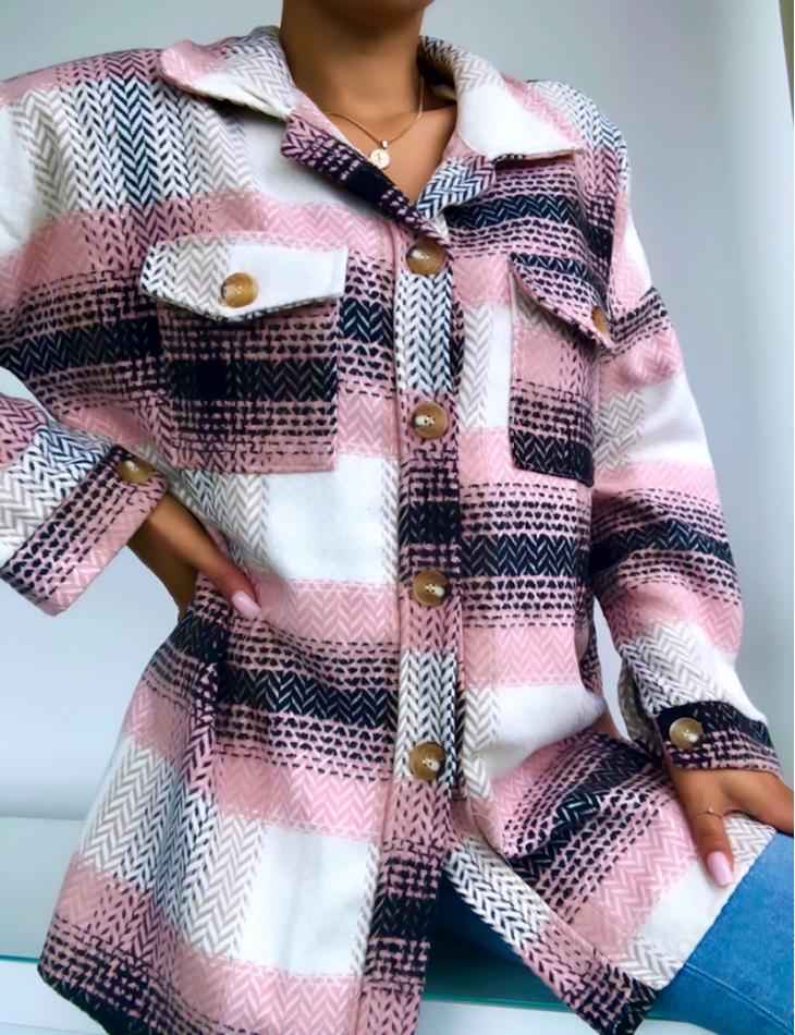 Chemise épaisse à carreaux