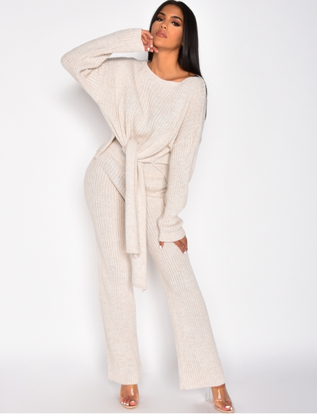Tie Jumper and Trousers Co-ord