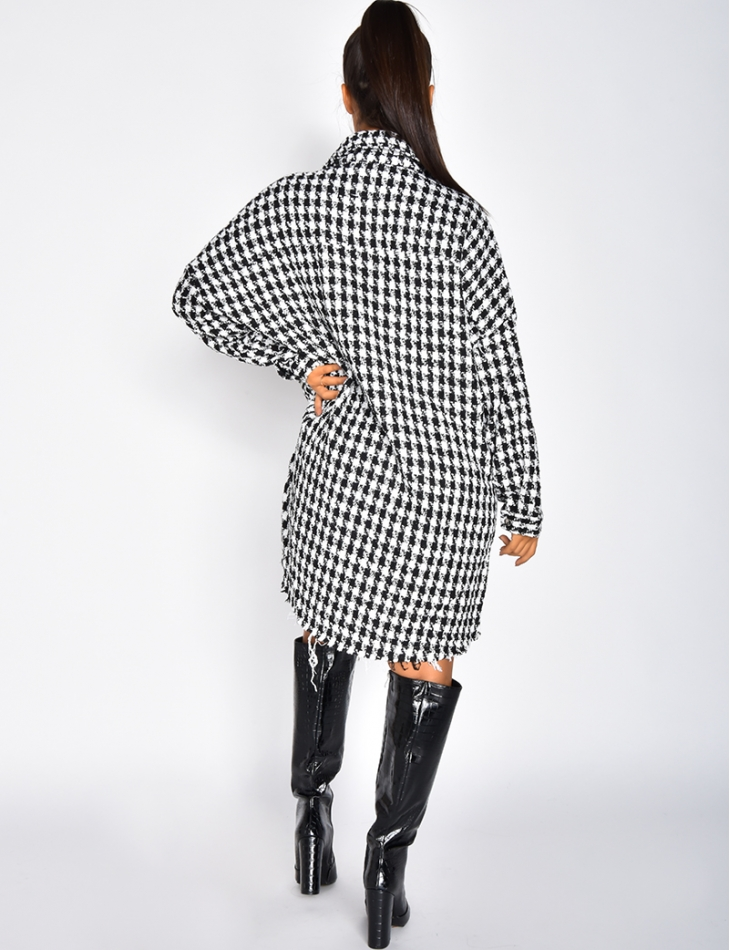 Tweed Houndstooth Jacket