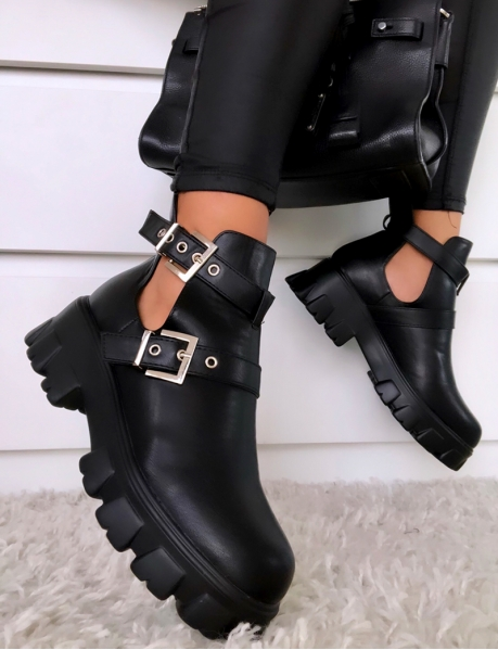 Ankle Boots with Straps