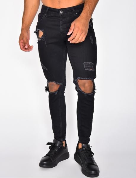 Jeans slim fit destroy